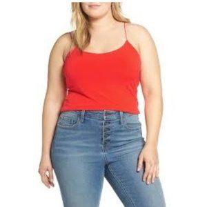 NWT Leith Sexy Camisole Red Scarlet 4X
